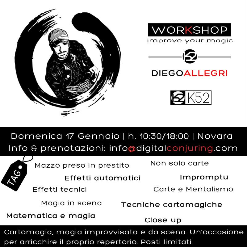 17 01 2016, Novara, Workshop con Diego Allegri