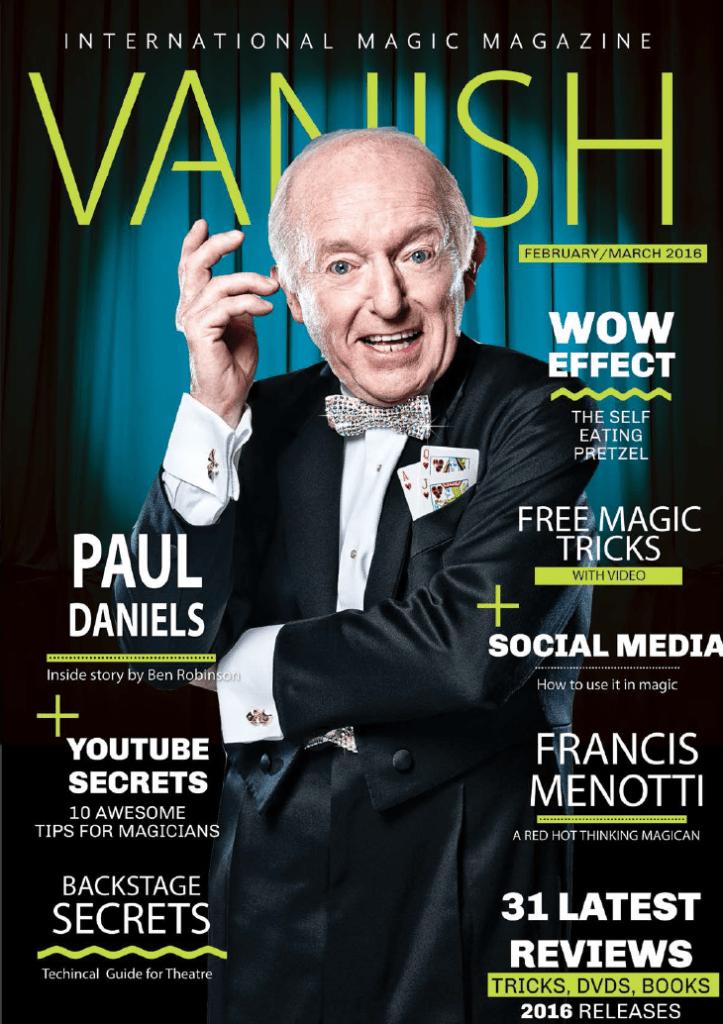 vanish magic magazine 24 paul daniels