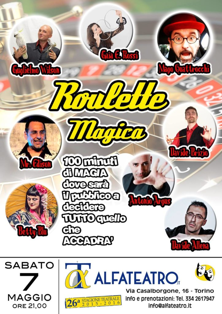 roulette magica davide allena maggio 2016