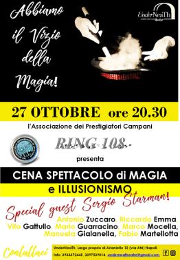 2018, Napoli, Cena con Spettacoli di Magia