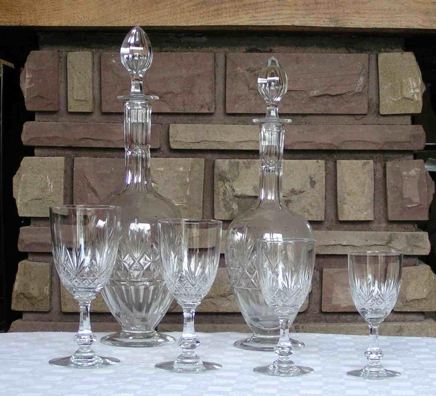 Verres cristal de SaintLouis service Massenet