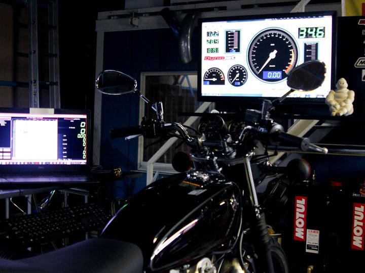 SR400FIサブコンによるセッティングとパワーチェック
