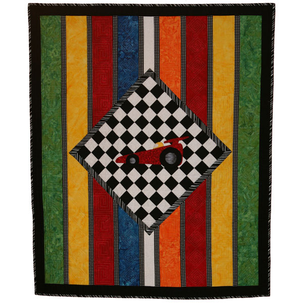 "The Race Car Quilt - 54"" X 46"" - Download"