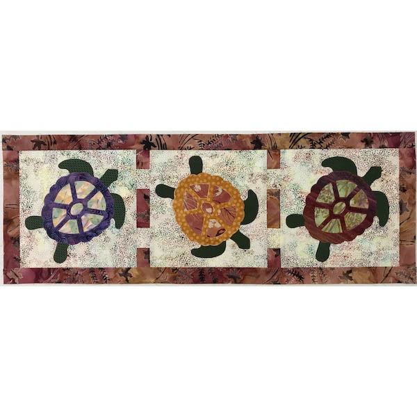 "Tagalong Turtles Table Runner - 11"" x 31"""
