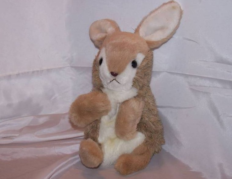 Hand Puppet Bunny Rabbit Stuffed Plush