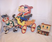 Singing Cowgirl, Cowboy on Wagon, Trading Post, Dolly Toy ...