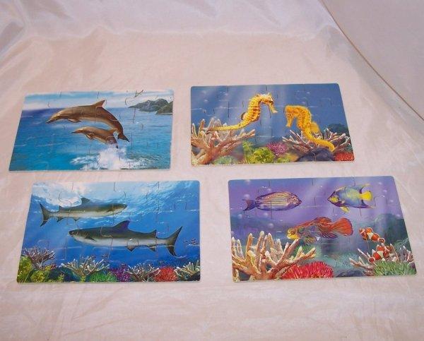 Melissa And Doug Ocean Sea Life Puzzle Set Box Ages 3