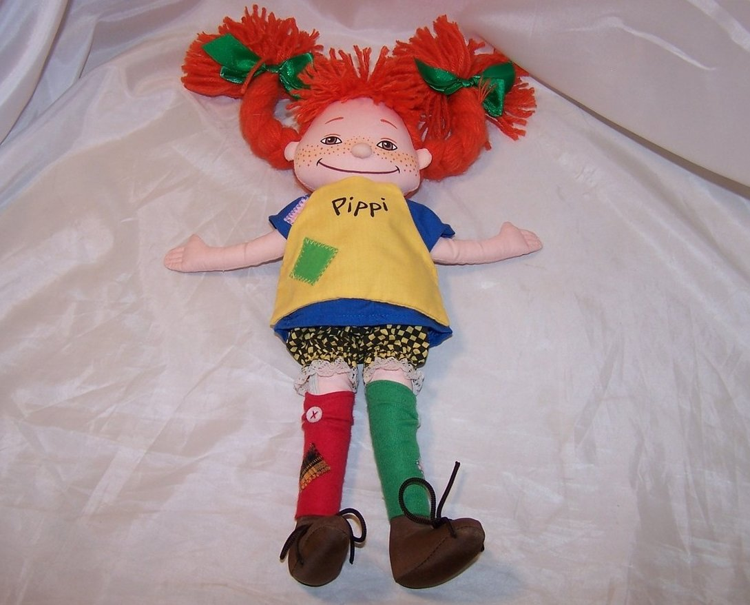 Pippi Longstocking Cloth Doll Omega Toy Astrid Lindgren