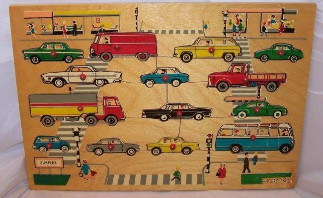 Car Vehicle Wood Puzzle Simplex Holland