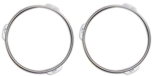 1940-1956 Ford Car & Truck Stainless Steel Headlight Rings