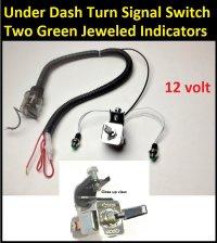 Toggle Turn Signal Switch w/ Indicator Lights