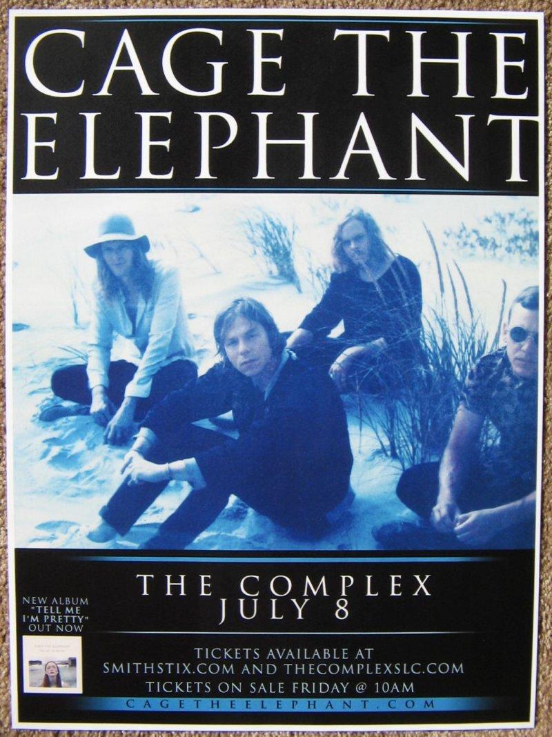 cage the elephant 2016 gig poster salt lake city concert utah