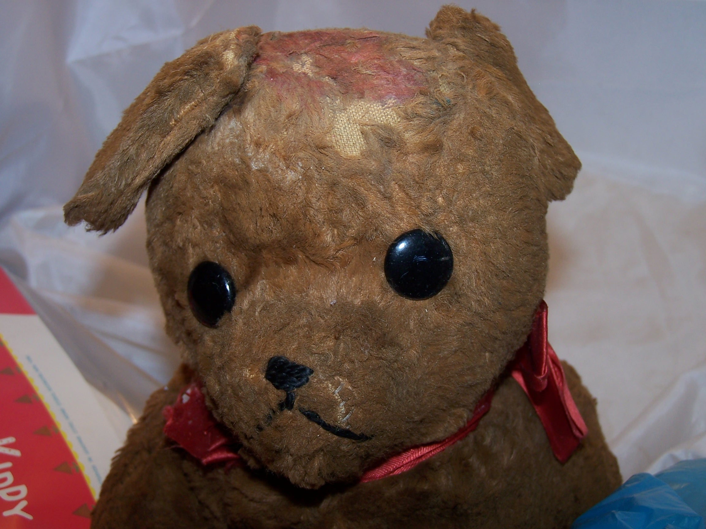 Plush Stuffed Brown Dog Antique