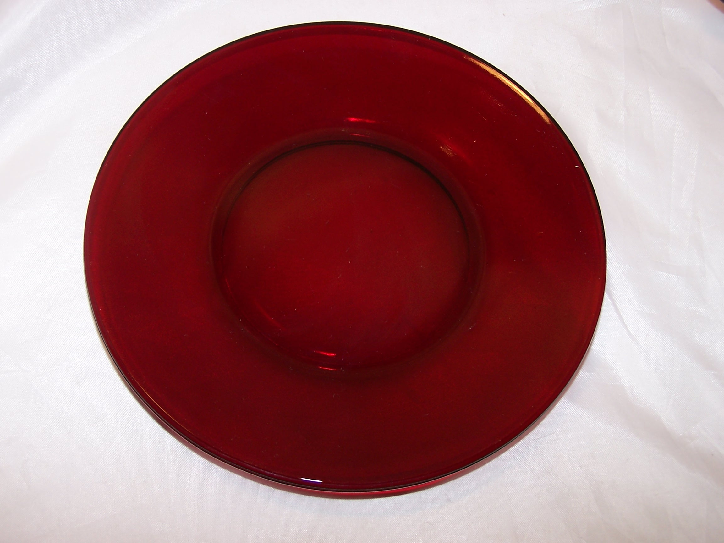 Ruby Red Depression Glass Plates Cups Sugar Bowl