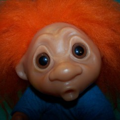 Wooden Toy Kitchen Renew Cabinets Norfin Troll Doll Heather, Denmark, 1977, Orig Tag