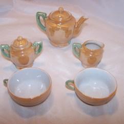 Kitchen Miniature Appliances Package Tea Set, Lusterware, Japan, Vintage