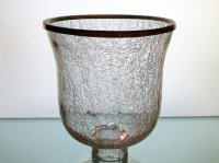 Crackle Glass Hurricane Shade XL 2.25 inch fitter x 7.25 w ...