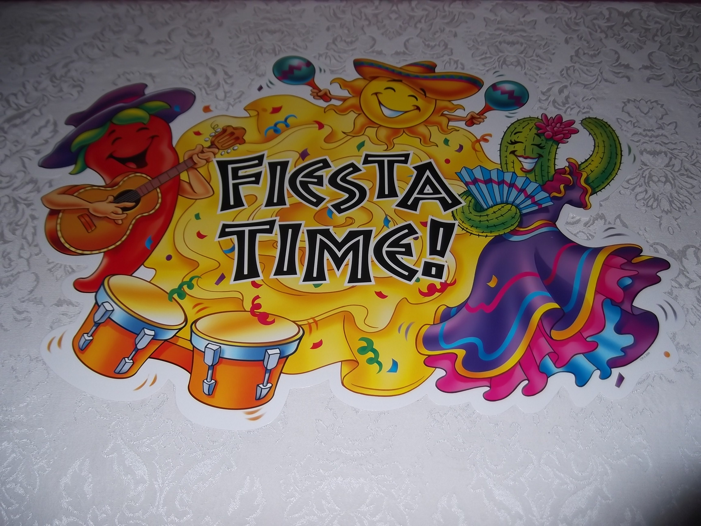 Bulletin Board Set with 20 Pieces Fiesta Time CTP 1695