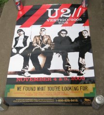 U2 Concert Poster Mgm Grand Las Vegas Nov 4-5 2005