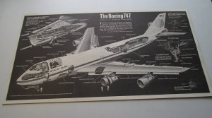 Pan Am Boeing 747 Cutaway Diagram Poster, Popular Mechanics