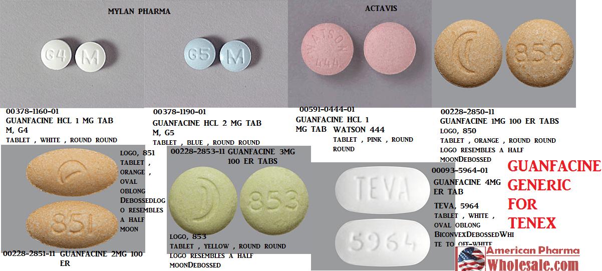 Guanfacine 2mg ER Tab 100 by Teva Pharma