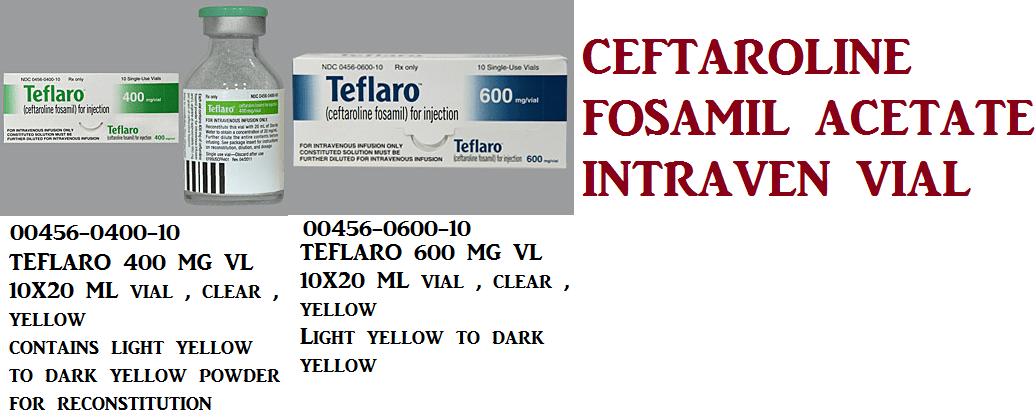 RX ITEM-Teflaro 600Mg Vial 10X20Ml By Actavis Pharma