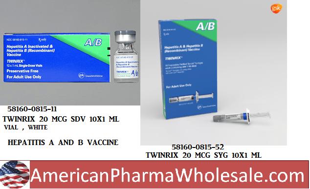 Twinrix 720 20 ml Syg 10X1ml by Glaxosmithkline Vaccines
