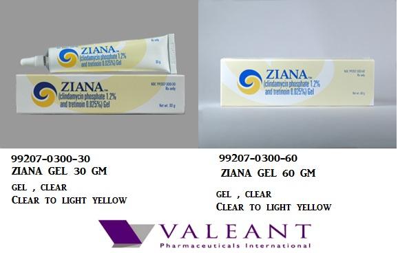 Ziana 1.2 0.025% Gel 30gm by Valeant Pharma