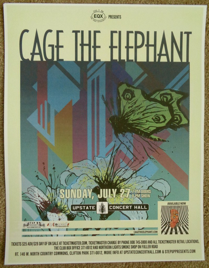 cage the elephant 2014 gig poster clifton park ny concert