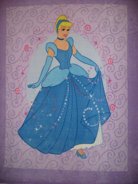 Lilac Disney Cinderella Princess child bed size fleece