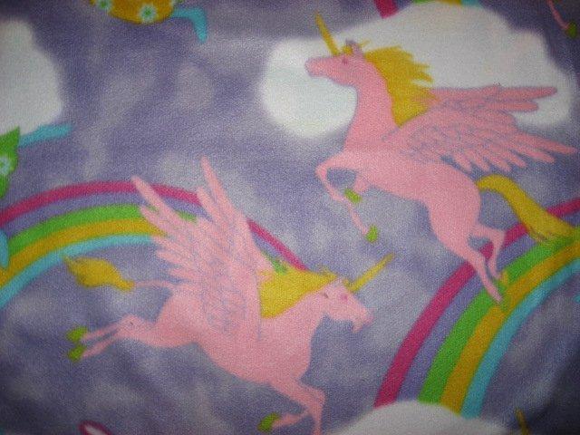 Angels Unicorn fleece blanket Child bed size Antipill Lilac