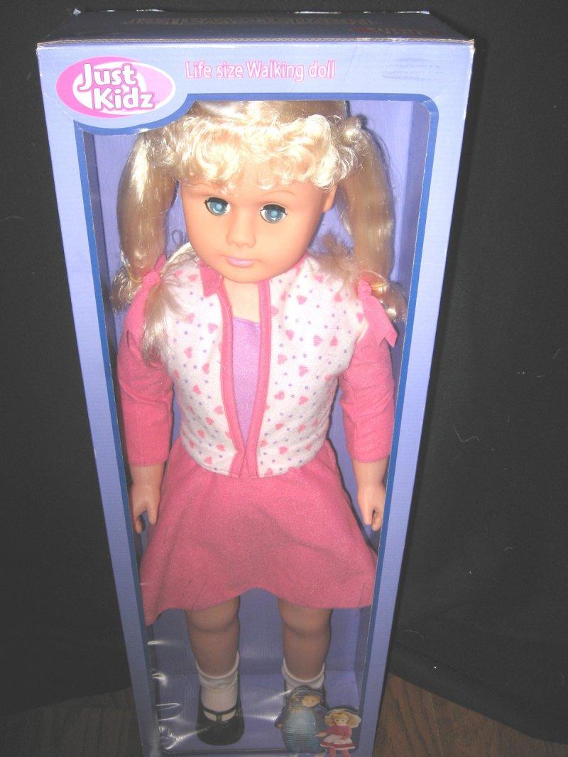 Blond Walker doll 30 tall Just Kidz Play Date Brand new