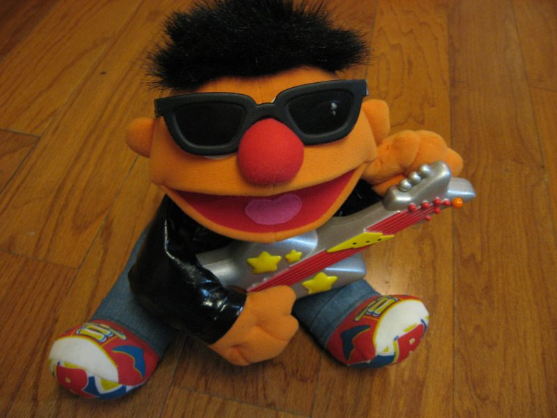 Sesame Street Ernie Guitar Rock and Roll playing doll