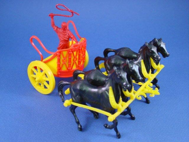 Marx Ben Hur Playset Roman Chariot With Driver Set 3