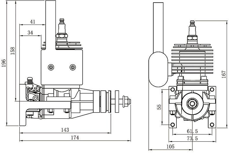 CRRC-pro GP26R 26cc Gasoline Aircraft Engine