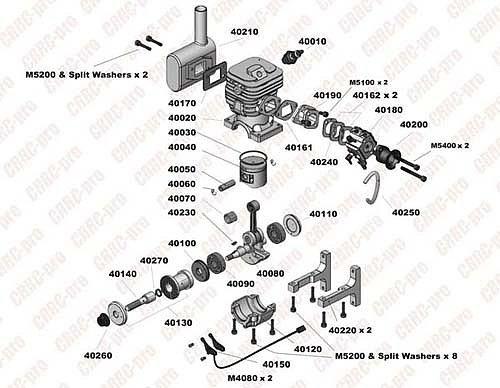 CRRC-pro GF40i Gasoline Aircraft Engine (kit)
