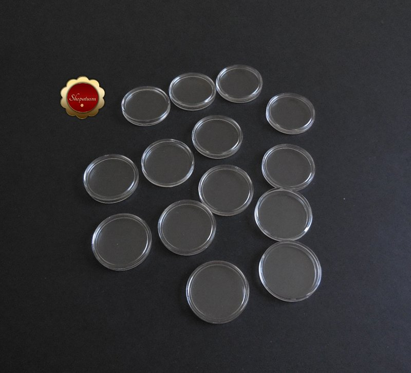 14 Clear Plastic Coin Holders 32mm Coin Capsules For 1 oz