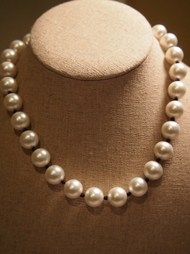 N1074 Retired Opaque Shell Pearl Silpada Necklace  2004 Catalog