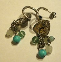 P2022 Retired Silpada Mixed Bead Sterling Silver Earrings