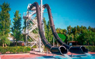 Water park - double closed slide