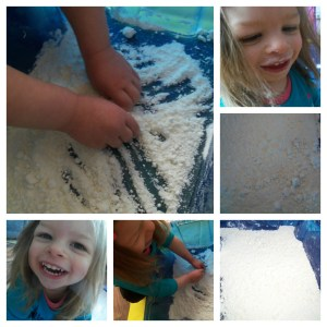 fake snow, childrens craft, indoor play, snow, indoor snow, snow, playing with snow,