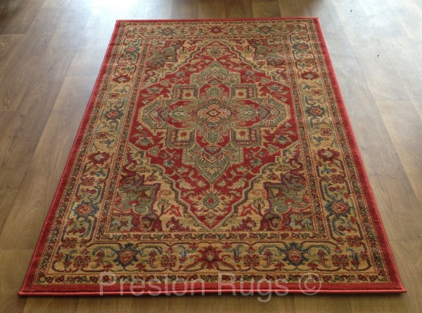 Red and Gold Rug Runner