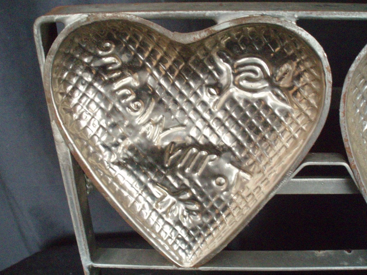 Valentines Day Chocolate Heart Mold Four Candy Vintage
