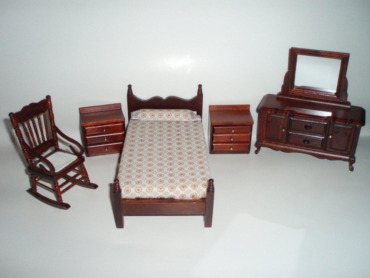 miniature dollhouse bedroom furniture  28 images