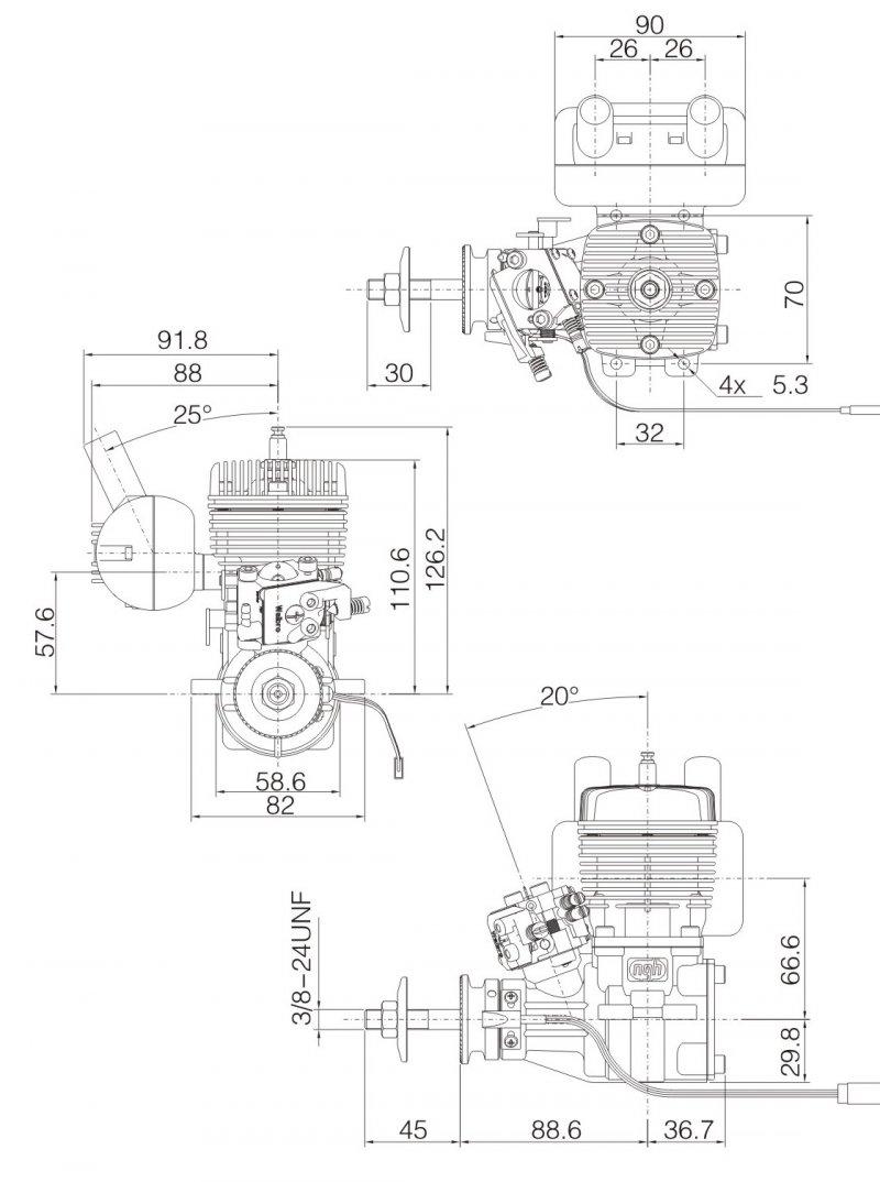 NGH GT35cc gas engine