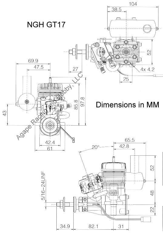 NGH GT17cc gas engine