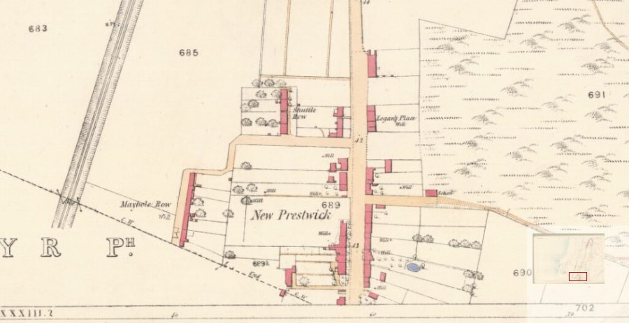 Prestwick Toll - 1855 Ordinance Survey Map
