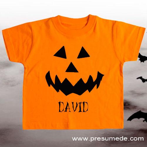 Camiseta Halloween de niño personalizada