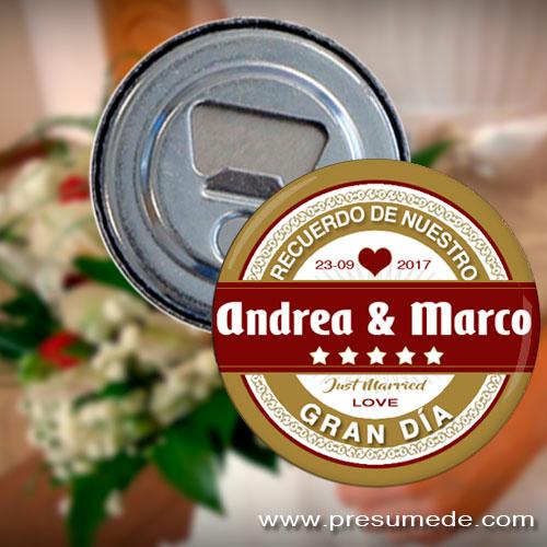 Abridores para boda Mahou