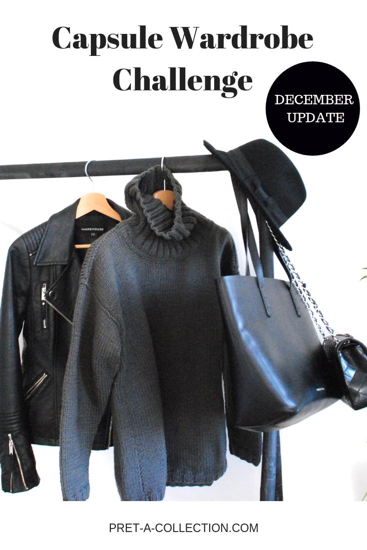 Capsule wardrobe my way - december update